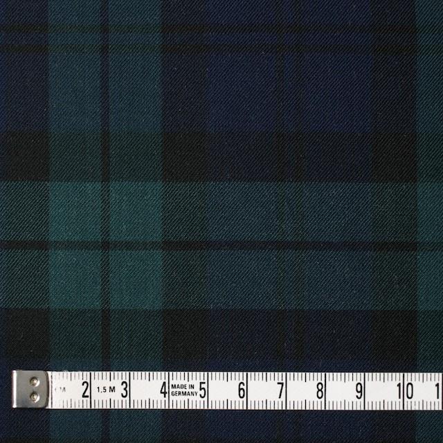 コットン×チェック(ブラックウォッチ)×薄サージ イメージ4