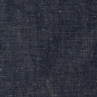 リネン&コットン×無地(ネイビー)×サージシャンブレー_全3色