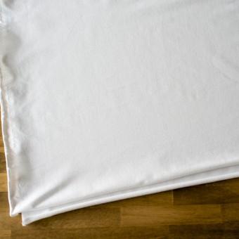コットン&ポリエステル混×無地(オフホワイト)×デニムライクニット_全10色 サムネイル2