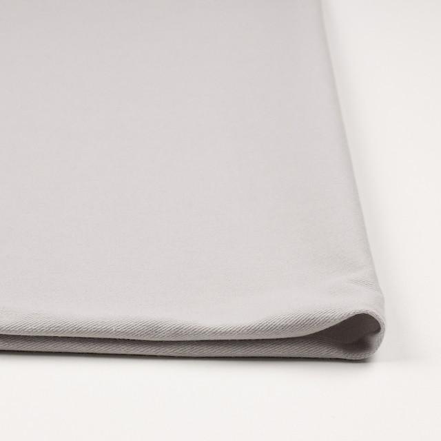 コットン&ポリエステル混×無地(ライトグレー)×デニムライクニット_全10色 イメージ3