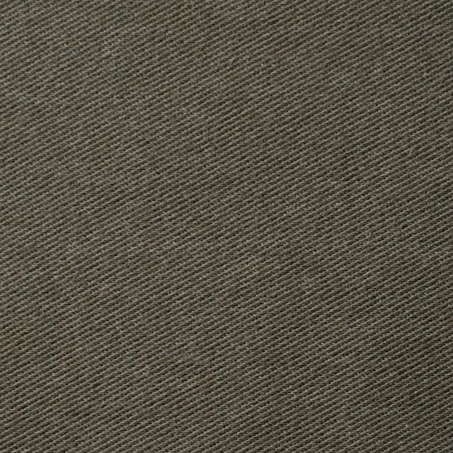 コットン&ポリエステル混×無地(カーキグリーン)×デニムライクニット_全10色 イメージ1