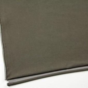 コットン&ポリエステル混×無地(カーキグリーン)×デニムライクニット_全10色 サムネイル2