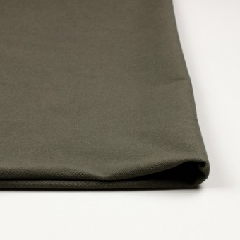 コットン&ポリエステル混×無地(カーキグリーン)×デニムライクニット_全10色 サムネイル3