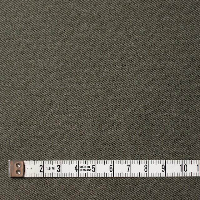 コットン&ポリエステル混×無地(カーキグリーン)×デニムライクニット_全10色 イメージ4
