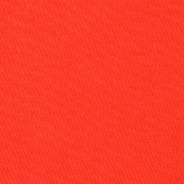 コットン×無地(パッションレッド)×天竺ニット_全10色 イメージ1