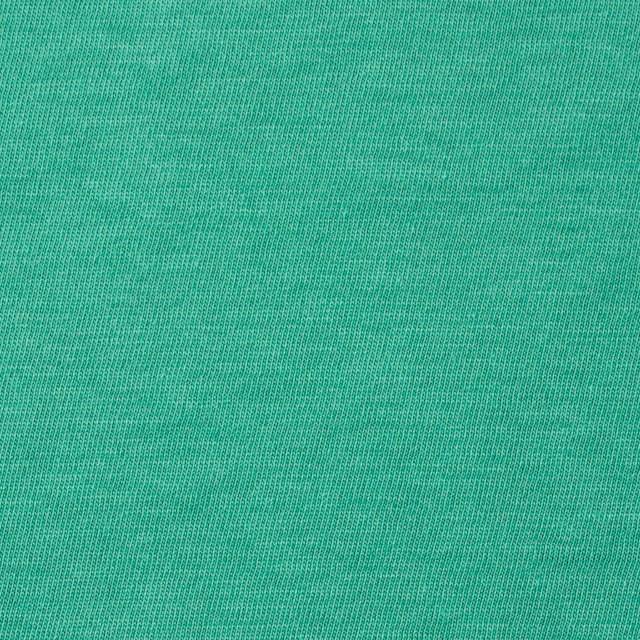 コットン×無地(エメラルドグリーン)×天竺ニット_全10色 イメージ1