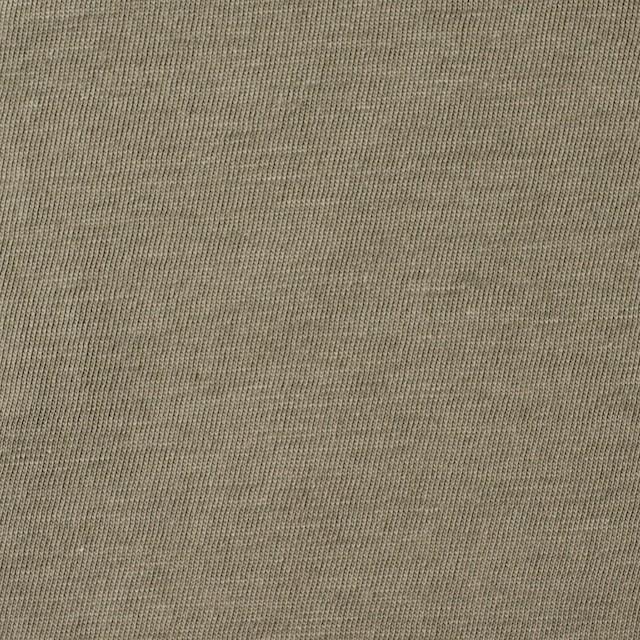 コットン×無地(オリーブグリーン)×天竺ニット_全10色 イメージ1
