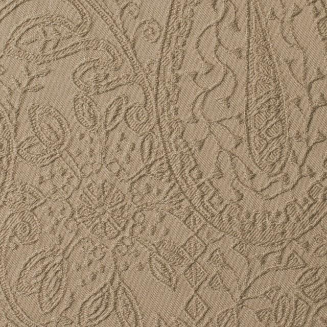 コットン&ポリウレタン×ペイズリー(ベージュ)×サテンジャガード・ストレッチ_全2色 イメージ1