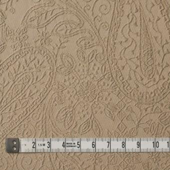 コットン&ポリウレタン×ペイズリー(ベージュ)×サテンジャガード・ストレッチ_全2色 サムネイル4