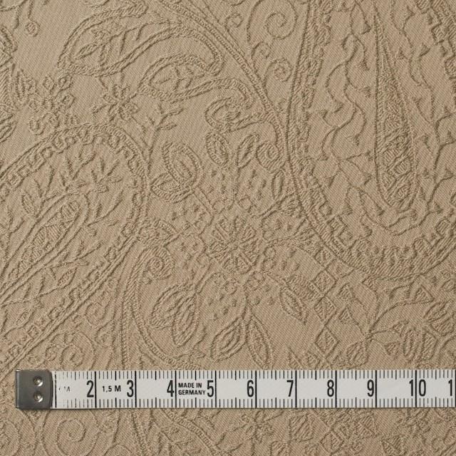 コットン&ポリウレタン×ペイズリー(ベージュ)×サテンジャガード・ストレッチ_全2色 イメージ4
