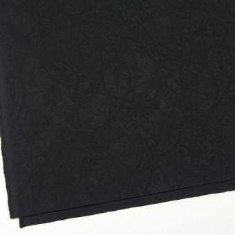 コットン&ポリウレタン×ペイズリー(ブラック)×サテンジャガード・ストレッチ_全2色 サムネイル2