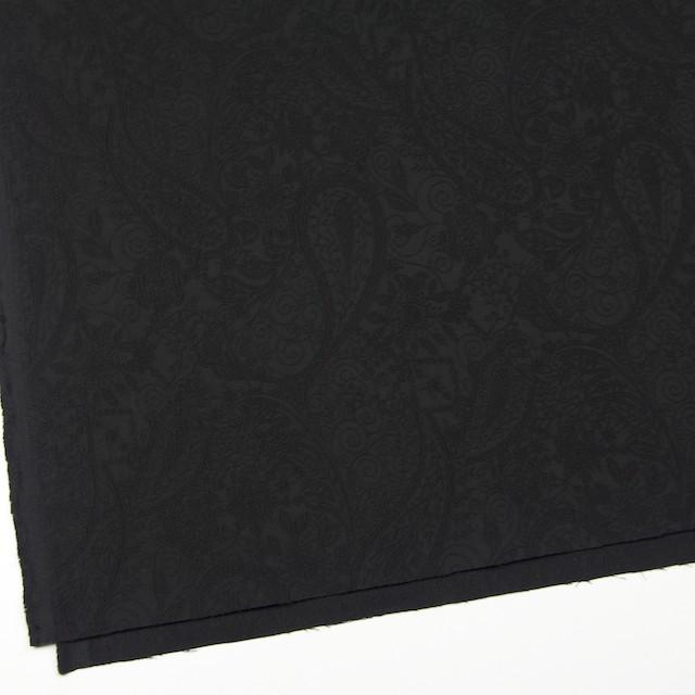 コットン&ポリウレタン×ペイズリー(ブラック)×サテンジャガード・ストレッチ_全2色 イメージ2