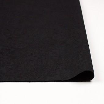 コットン&ポリウレタン×ペイズリー(ブラック)×サテンジャガード・ストレッチ_全2色 サムネイル3