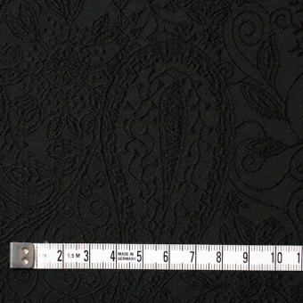 コットン&ポリウレタン×ペイズリー(ブラック)×サテンジャガード・ストレッチ_全2色 サムネイル4