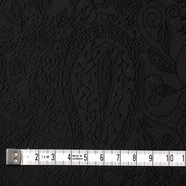 コットン&ポリウレタン×ペイズリー(ブラック)×サテンジャガード・ストレッチ_全2色 イメージ4