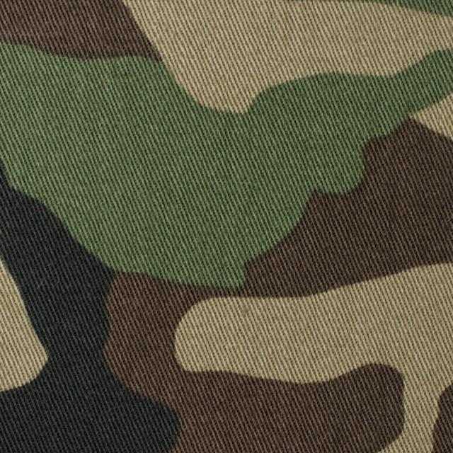 コットン×迷彩(カーキグリーン&ダークブラウン)×チノクロス イメージ1