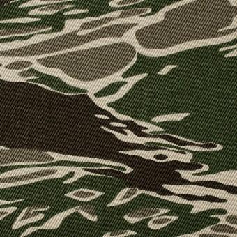コットン×迷彩(グリーン&ダークブラウン)×チノクロス サムネイル1