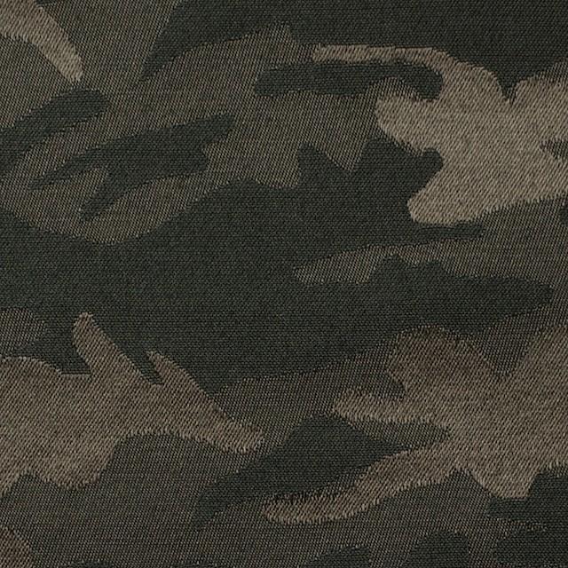 コットン&ポリエステル混×迷彩(ダークカーキミックス)×サテンジャガード・ストレッチ イメージ1