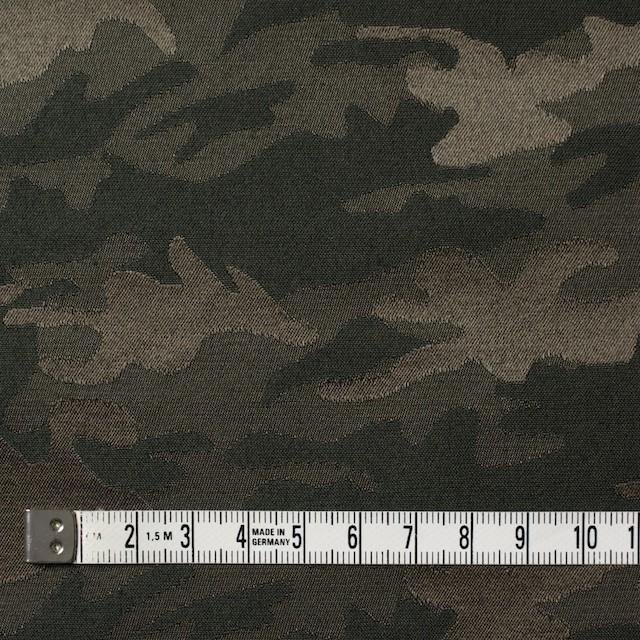 コットン&ポリエステル混×迷彩(ダークカーキミックス)×サテンジャガード・ストレッチ イメージ4