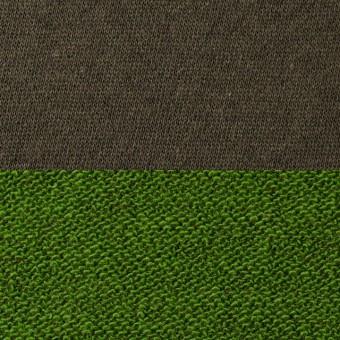 コットン&アクリル×無地(ブラウン&グリーン)×裏毛ニット_全2色 サムネイル1