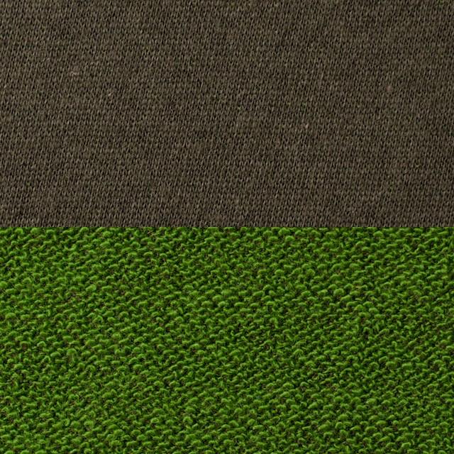 コットン&アクリル×無地(ブラウン&グリーン)×裏毛ニット_全2色 イメージ1