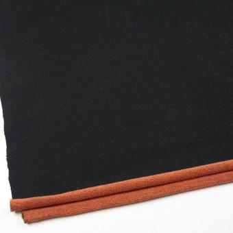 コットン×無地(ブラック&オレンジ)×裏毛ニット サムネイル2