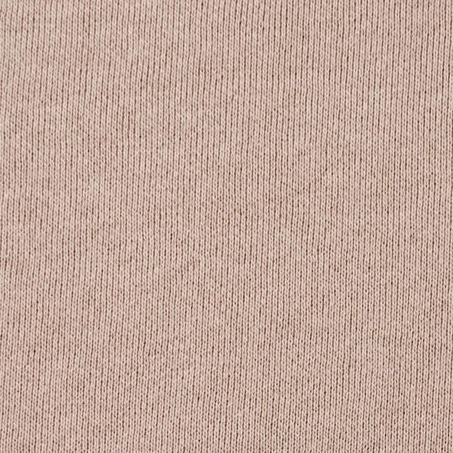 コットン×無地(ピンクベージュ)×裏毛ニット イメージ1