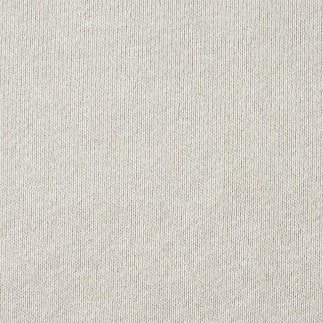 コットン×無地(アイスグレー)×裏毛ニット イメージ1