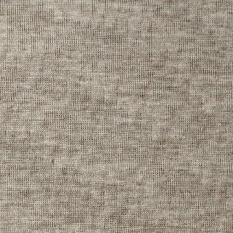 コットン&ポリウレタン×無地(グレイッシュモカ)×裏毛ニット サムネイル1