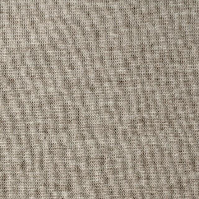 コットン&ポリウレタン×無地(グレイッシュモカ)×裏毛ニット イメージ1