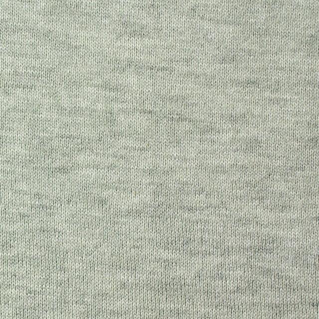 コットン×無地(アイスグリーン)×裏毛ニット イメージ1