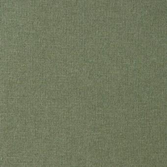 コットン&ポリウレタン×無地(カーキグリーン)×裏毛ニット サムネイル1