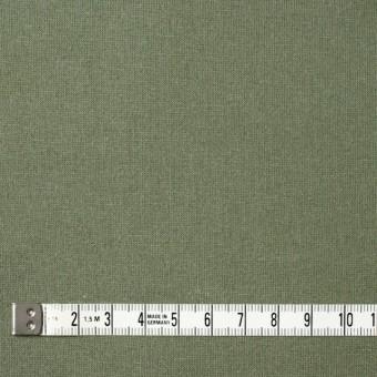 コットン&ポリウレタン×無地(カーキグリーン)×裏毛ニット サムネイル4