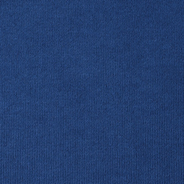 コットン×無地(ブルー)×裏毛ニット イメージ1