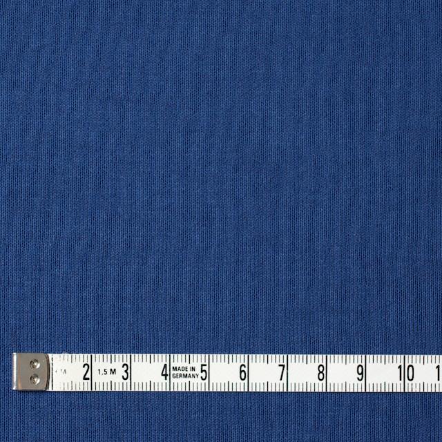 コットン×無地(ブルー)×裏毛ニット イメージ4