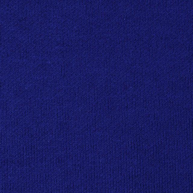 コットン×無地(ロイヤルブルー)×裏毛ニット イメージ1