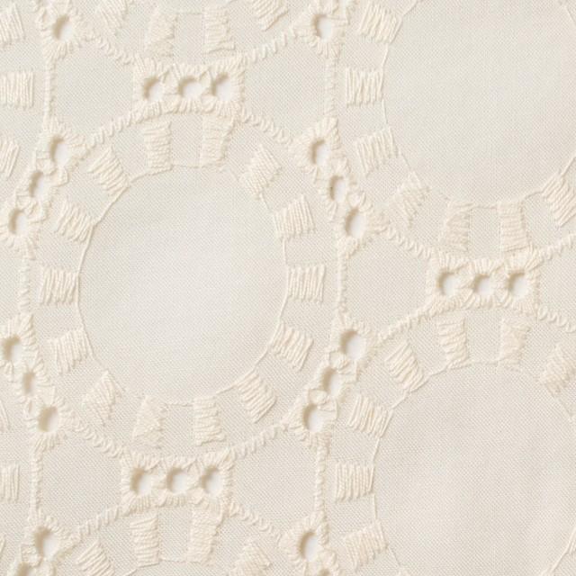 コットン×オーバル(バニラ)×ローン刺繍_全10色 イメージ1