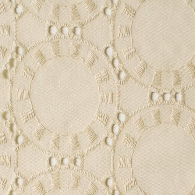 コットン×オーバル(カスタードクリーム)×ローン刺繍_全10色 イメージ1