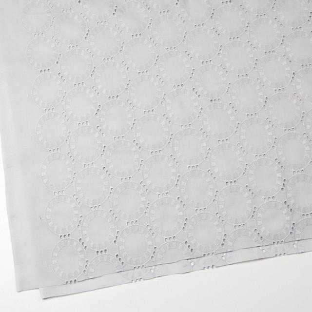 コットン×オーバル(ライトグレー)×ローン刺繍_全10色 イメージ2