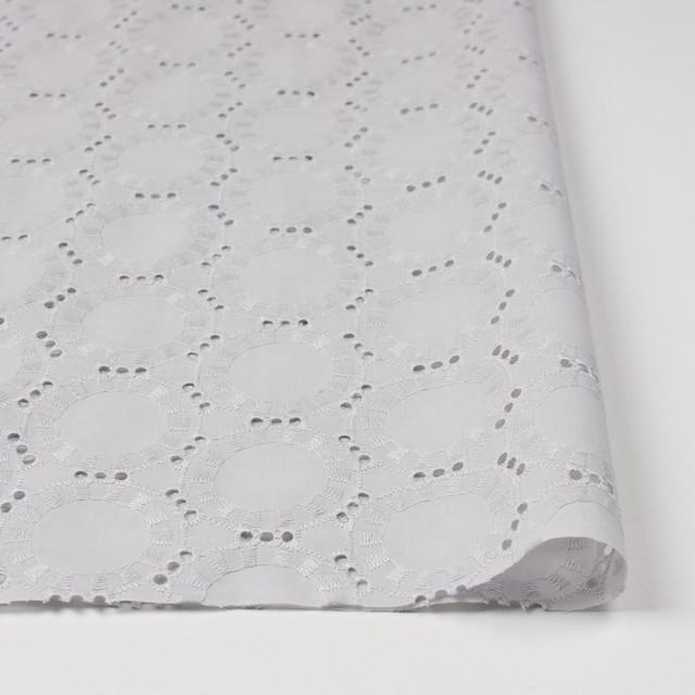 コットン×オーバル(ライトグレー)×ローン刺繍_全10色 イメージ3