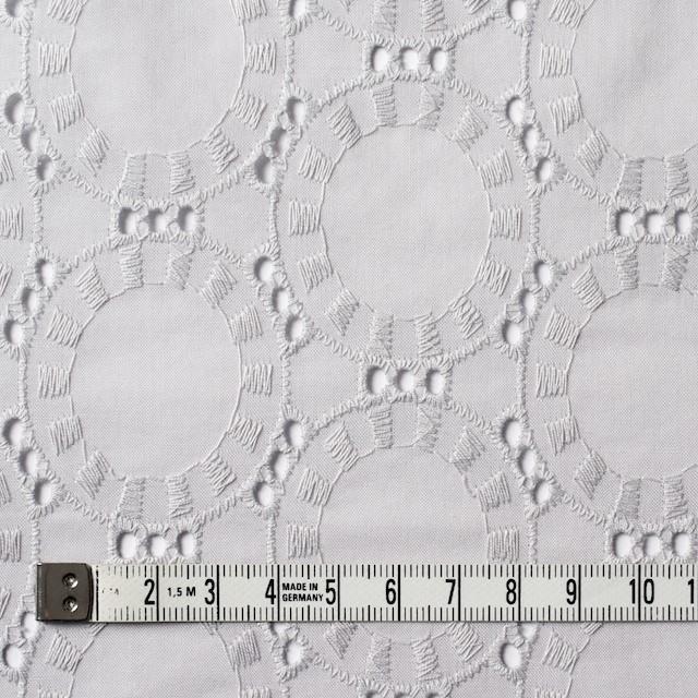 コットン×オーバル(ライトグレー)×ローン刺繍_全10色 イメージ4