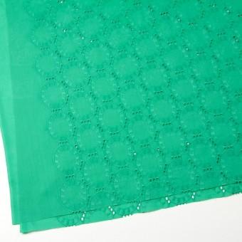 コットン×オーバル(エメラルドグリーン)×ローン刺繍_全10色 サムネイル2