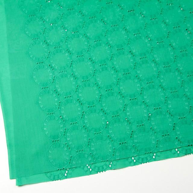 コットン×オーバル(エメラルドグリーン)×ローン刺繍_全10色 イメージ2