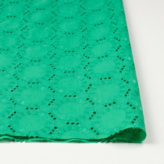 コットン×オーバル(エメラルドグリーン)×ローン刺繍_全10色 イメージ3