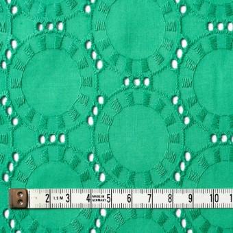 コットン×オーバル(エメラルドグリーン)×ローン刺繍_全10色 サムネイル4