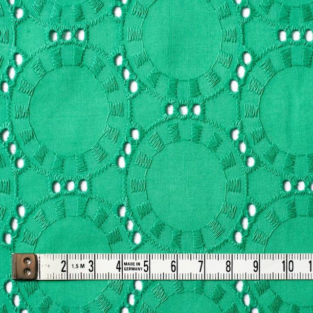 コットン×オーバル(エメラルドグリーン)×ローン刺繍_全10色 イメージ4