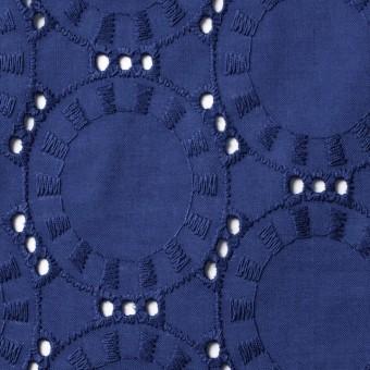 コットン×オーバル(マリンブルー)×ローン刺繍_全10色 サムネイル1