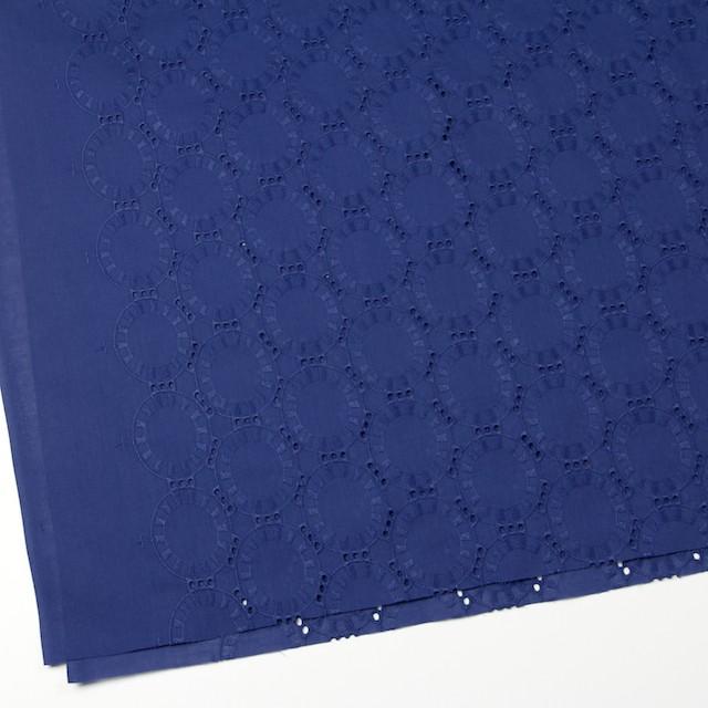 コットン×オーバル(マリンブルー)×ローン刺繍_全10色 イメージ2