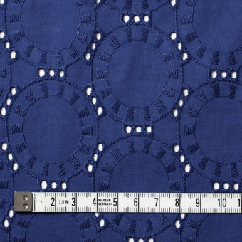 コットン×オーバル(マリンブルー)×ローン刺繍_全10色 サムネイル4