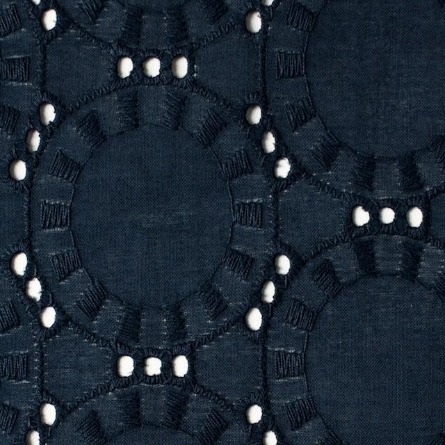 コットン×オーバル(アイアンネイビー)×ローン刺繍_全10色 イメージ1